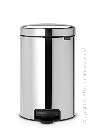 Ведро для мусора Brabantia Pedal Bin NewIcon 12 л, Brilliant Steel