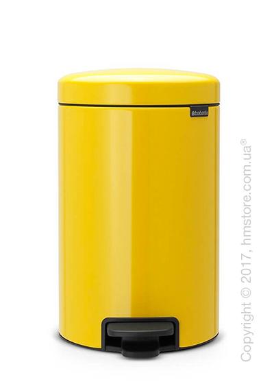 Ведро для мусора Brabantia Pedal Bin NewIcon 12 л, Daisy Yellow