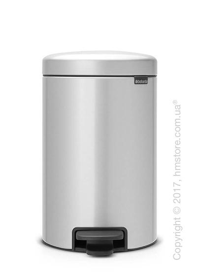 Ведро для мусора Brabantia Pedal Bin NewIcon 12 л, Metallic Grey