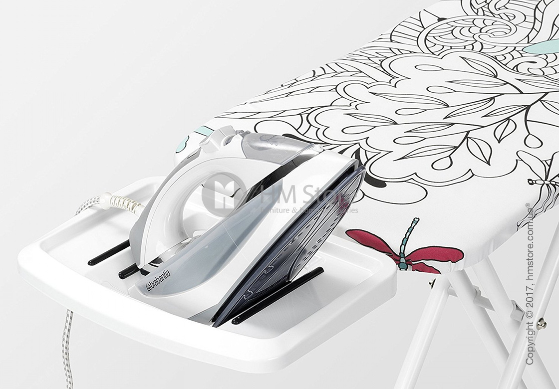 Гладильная доска Brabantia Solid Steam Iron Rest, Ivory and Dragonfly