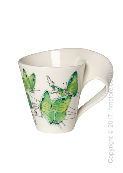 Чашка Villeroy & Boch коллекция New Wave Caffè, серия Animals of the World 300 мл, Green Hairstreak