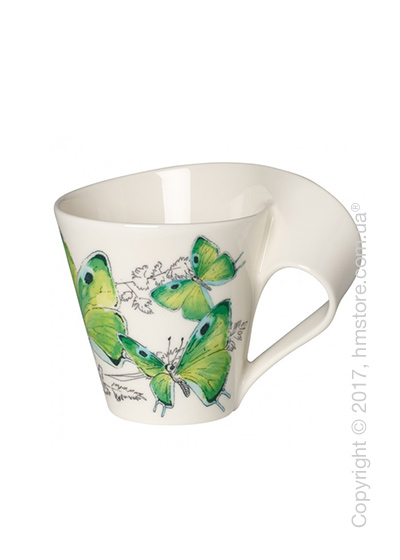 Чашка Villeroy & Boch коллекция New Wave Caffè, серия Animals of the World 250 мл, Green Hairstreak