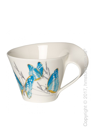 Чашка Villeroy & Boch коллекция New Wave Caffè, серия Animals of the World 400 мл, Morpho Cypris