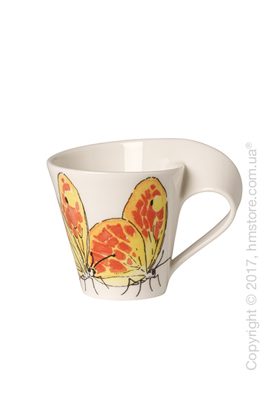 Чашка для эспрессо Villeroy & Boch коллекция New Wave Caffè, серия Animals of the World 80 мл, Washed Sulphur