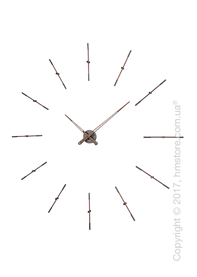 Часы настенные Nomon Merlin 12 T Wall Clock, Walnut