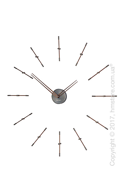 Часы настенные Nomon Mini Merlin 12 T Wall Clock, Walnut
