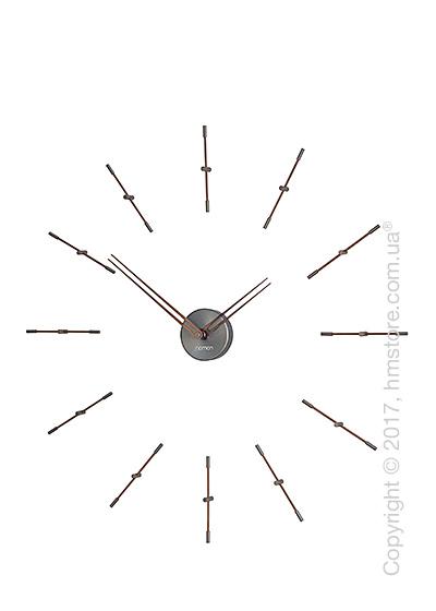 Часы настенные Nomon Mini Merlin 12 T Wall Clock, Walnut