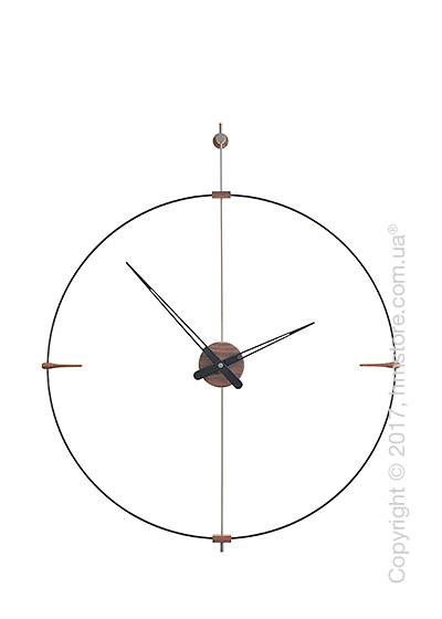Часы настенные Nomon Mini Bilbao Wall Clock, Walnut