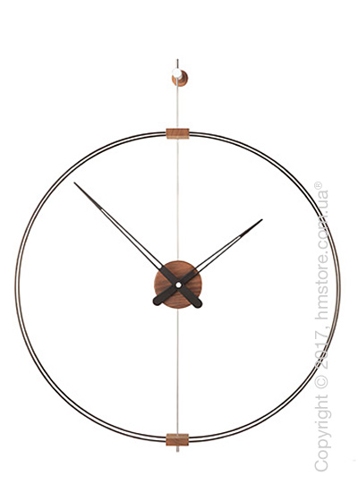 Часы настенные Nomon Barcelona Mini Wall Clock, Walnut and Black