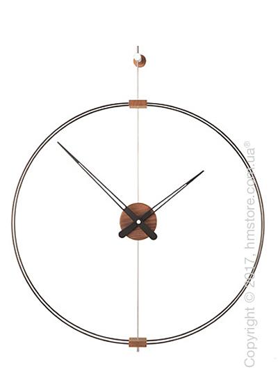 Часы настенные Nomon Barcelona Mini Wall Clock, Walnut and Black
