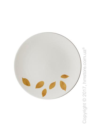 Тарелка десертная мелкая Dibbern коллекция Gold Leaf, 21 см