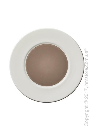 Тарелка десертная мелкая Dibbern коллекция Spot, 22 см, Taupe