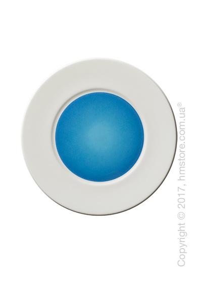 Тарелка десертная мелкая Dibbern коллекция Spot, 22 см, Blue