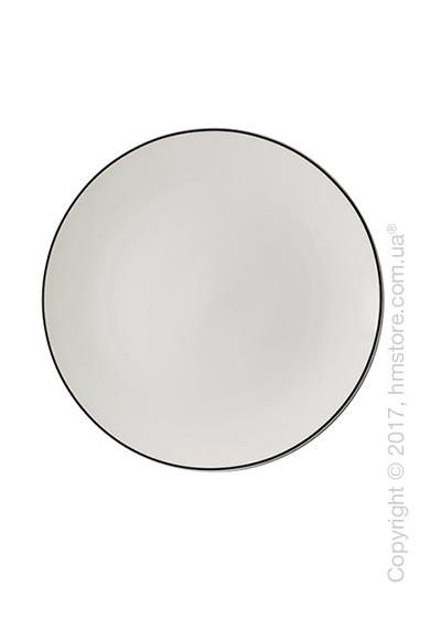 Тарелка десертная мелкая Dibbern коллекция Simplicity, 21 см, Black