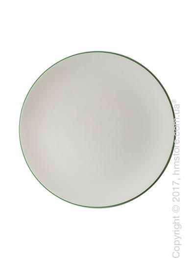 Тарелка столовая мелкая Dibbern коллекция Simplicity, 28 см, Green