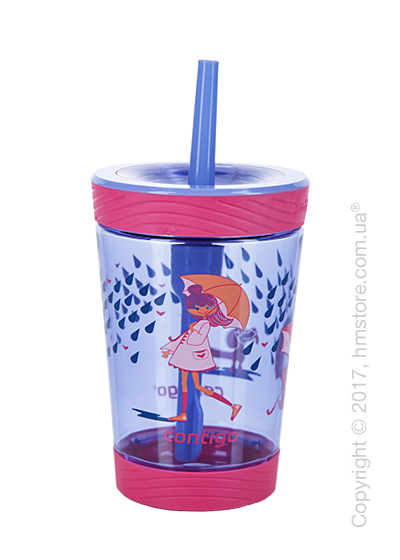 Стакан для воды детский Contigo Spill Proof Tumbler, Wink Raining Cats & Dogs 420 мл