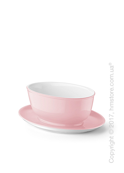 Тарелка с блюдцем бульонная Dibbern коллекция Solid Color, 450 мл, Powder pink