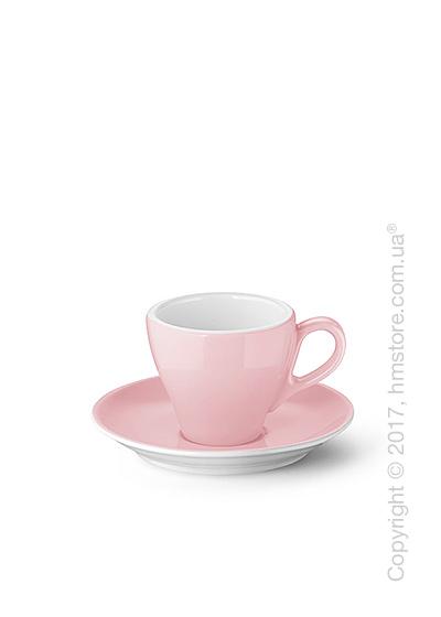Чашка для эспрессо с блюдцем Dibbern коллекция Solid Color, 90 мл, Powder pink