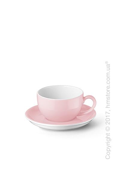 Чашка для эспрессо с блюдцем Dibbern коллекция Solid Color, 100 мл, Powder pink