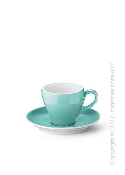 Чашка для эспрессо с блюдцем Dibbern коллекция Solid Color, 90 мл, Seawater Green