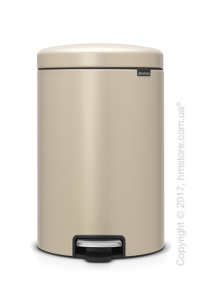 Ведро для мусора Brabantia Pedal Bin NewIcon Luxury 20 л, Mineral Golden Beach