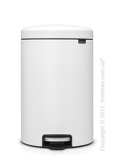 Ведро для мусора Brabantia Pedal Bin NewIcon Luxury 20 л, Mineral Eternal White