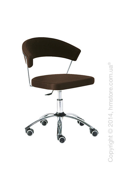 Кресло Connubia New York, Swivel chair, Gummy coating coffee