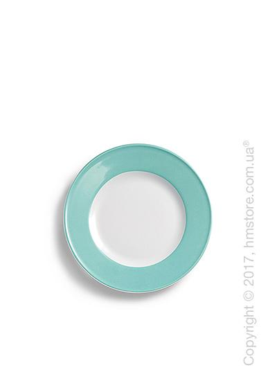 Тарелка десертная мелкая Dibbern коллекция Solid Color, 19 см, Seawater Green