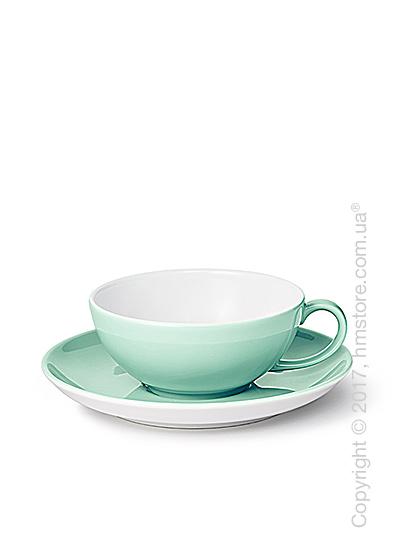 Чашка с блюдцем Dibbern коллекция Solid Color, 220 мл, Seawater Green
