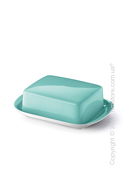 Емкость с крышкой для сливочного масла Dibbern коллекция Solid Color, Seawater Green