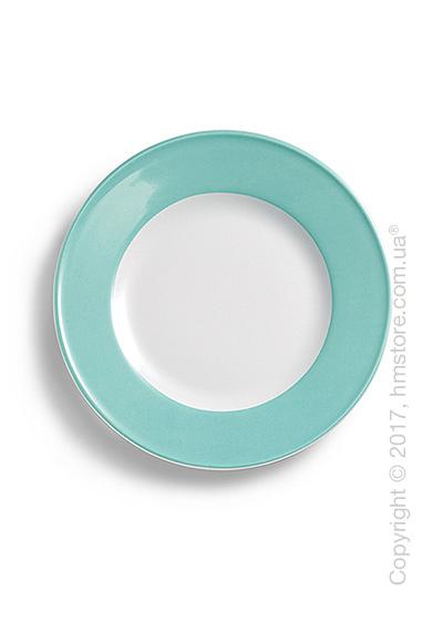 Тарелка десертная мелкая Dibbern коллекция Solid Color, 21 см, Seawater Green