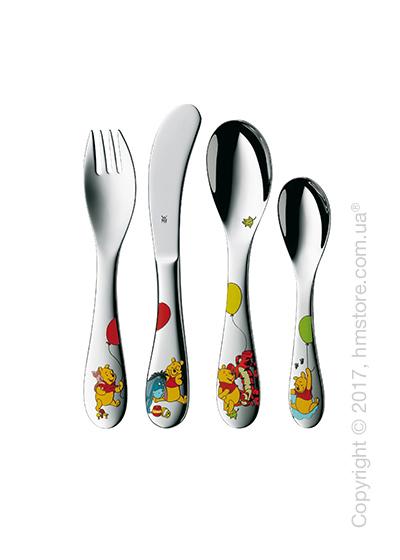 Набор столовых приборов детский WMF коллекция Winnie The Pooh, 4 предмета