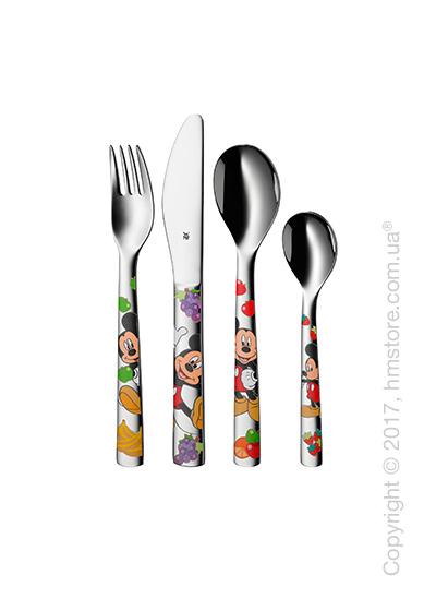 Набор столовых приборов детский WMF коллекция Mickey Mouse, 4 предмета