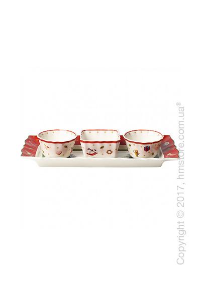 Набор для подачи закусок Villeroy & Boch коллекция Toy's Delight, 4 предмета