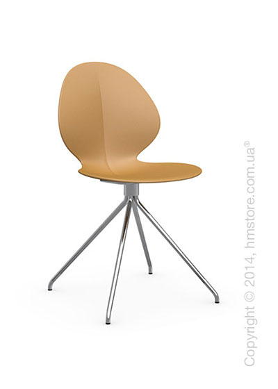 Стул Calligaris Basil, Metal and polypropylene chair, Plastic mustard yellow