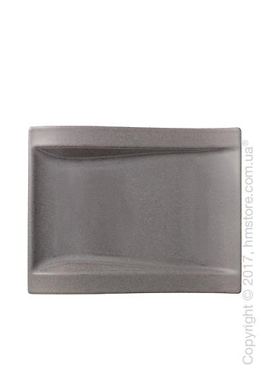 Тарелка столовая мелкая Villeroy & Boch коллекция New Wave Stone, 26х20 см