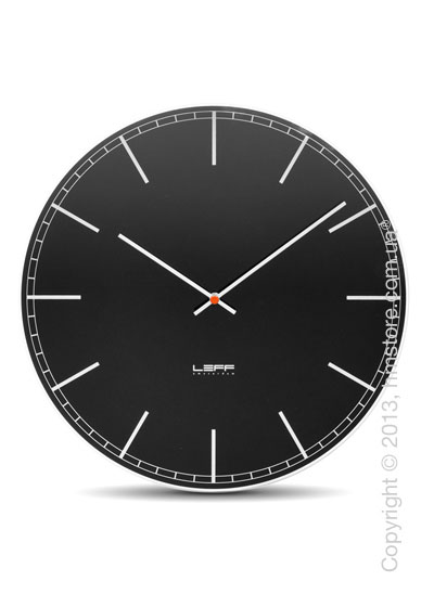 Часы настенные LEFF Amsterdam wall clock one45 black index glass