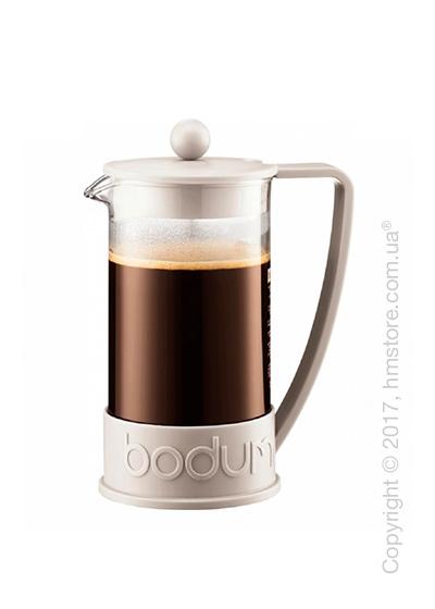 Кофейник френч-пресс Bodum Brazil 1 л, White