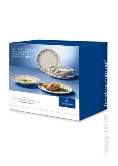 Набор фарфоровой посуды Villeroy & Boch коллекция Artesano Montagne на 4 персоны, 8 предметов