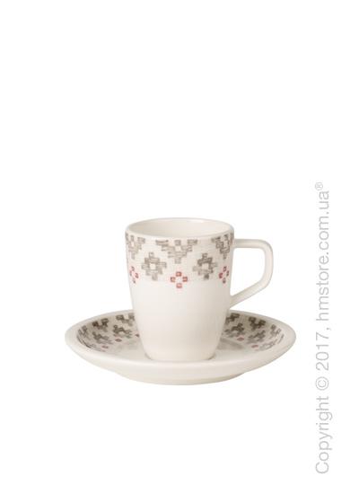 Чашка для эспрессо с блюдцем Villeroy & Boch коллекция Artesano Montagne, 100 мл