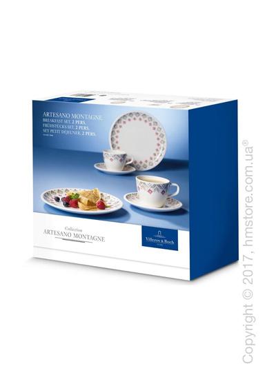 Набор фарфоровой посуды Villeroy & Boch коллекция Artesano Montagne на 2 персоны, 6 предметов
