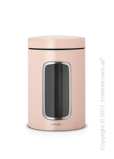 Емкость для хранения сыпучих продуктов Brabantia Window 1,4 л, Clay Pink