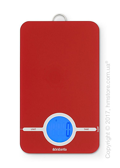 Весы кухонные Brabantia Digital Kitchen Scales, Passion Red