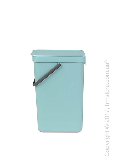 Контейнер для мусора Brabantia Sort & Go, 16 л, Mint