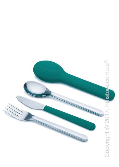 Набор столовых приборов Joseph Joseph GoEat Space-saving Cutlery Set на 1 персону, 4 предмета, Turquoise