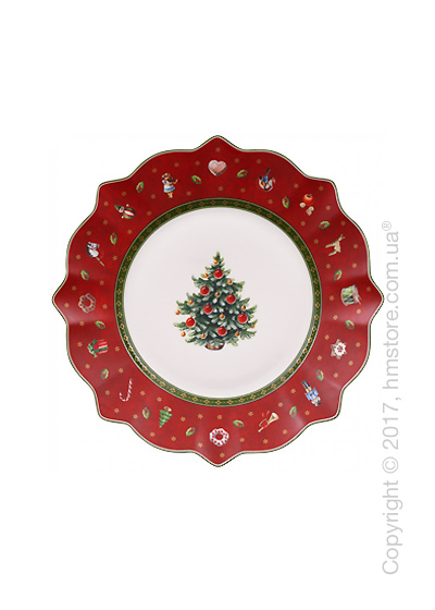 Тарелка десертная мелкая Villeroy & Boch коллекция Toy's Delight, 24 см, Red