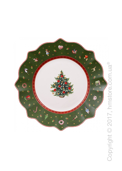 Тарелка десертная мелкая Villeroy & Boch коллекция Toy's Delight, 24 см, Green
