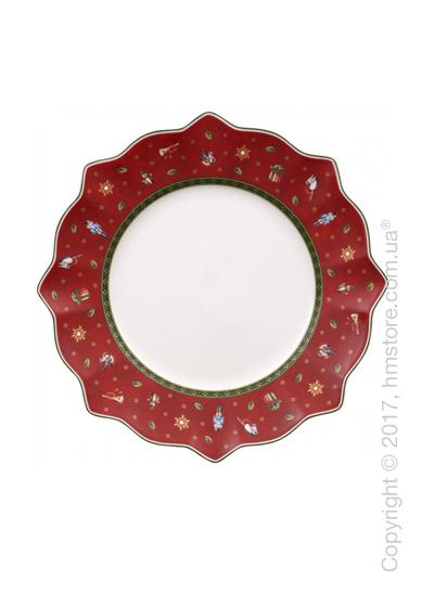 Тарелка столовая мелкая Villeroy & Boch коллекция Toy's Delight, 29 см, Red