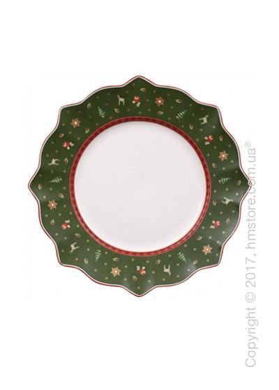 Тарелка столовая мелкая Villeroy & Boch коллекция Toy's Delight, 29 см, Green