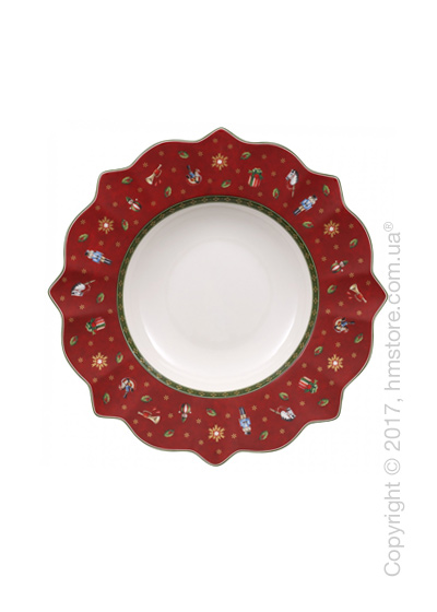 Тарелка столовая глубокая Villeroy & Boch коллекция Toy's Delight, 26 см, Red